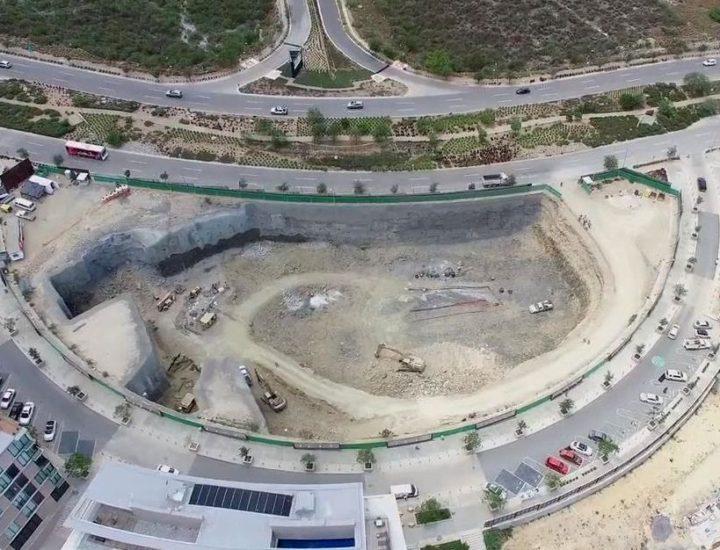 Edifican plaza con torre corporativa de 12 niveles