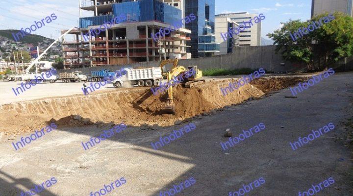 Inicia excavación de 22 metros; construirán torre de 40 niveles