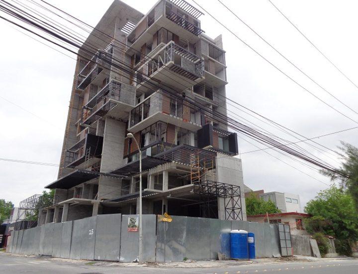 Instalan vistas exteriores de Torre MR 855 en San Pedro