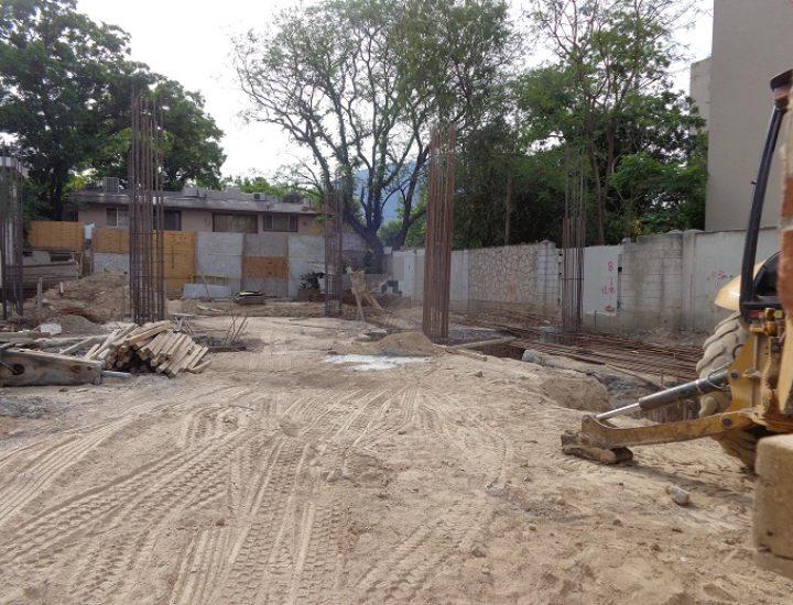 Ejecutan cimentación de edificio residencial en San Jerónimo