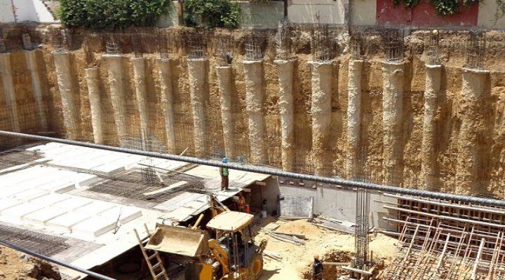 Construyen sótanos de edificio multiusos en San Pedro