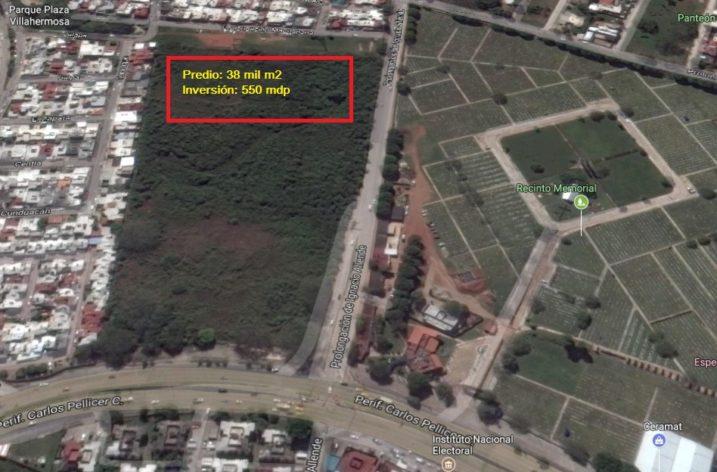 Invertirán 550 mdp en desarrollo comercial en Villahermosa