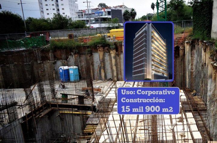 Construyen sótanos de corporativo en Valle Oriente