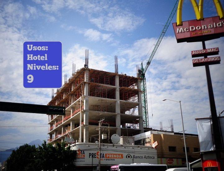 Levantan hotel en el primer cuadro de Monterrey