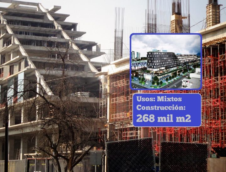 Instalan fachada de megacomplejo de 268 mil m2