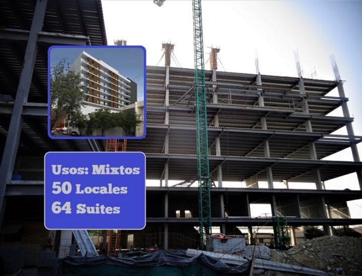 Levantan estructura de torre multiusos en Contry