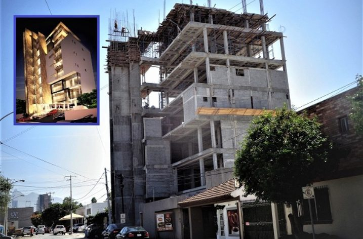 Construyen niveles superiores de torre mixta en SP