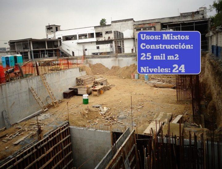Inicia obra civil de proyecto vertical de 24 niveles