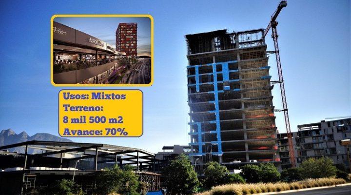 Avanza estructura de Plaza Vía en Santa Catarina