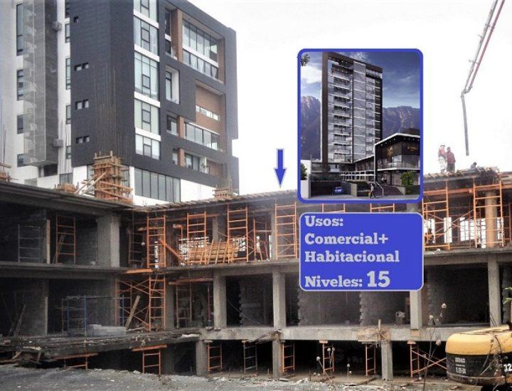 Levantan edificio de 15 niveles en el Centrito