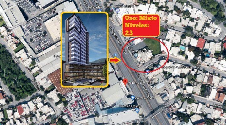 Proyectan torre de 23 niveles en zona Contry