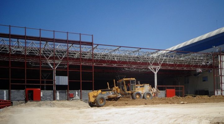 Avanzan obras de ampliación de recinto en Fundidora