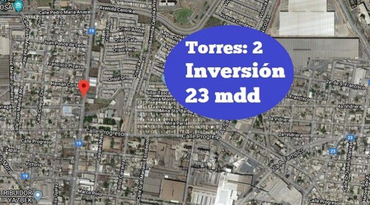 Arribarán 2 nuevas torres al Centro; invertirán 23 mdd