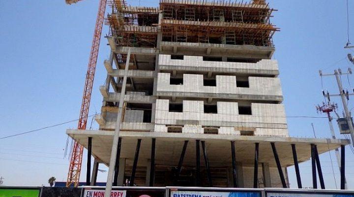 Llega al 50 por ciento construcción de hotel en Apodaca