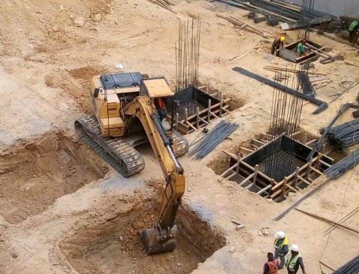 Arranca cimentación de edificio de uso múltiple en San Pedro