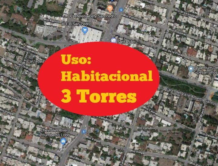 Planean 'megacomplejo' vertical de 3 torres en San Pedro