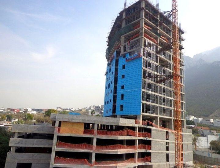 Alcanza nivel 16 estructura de torre habitacional en Valle Poniente