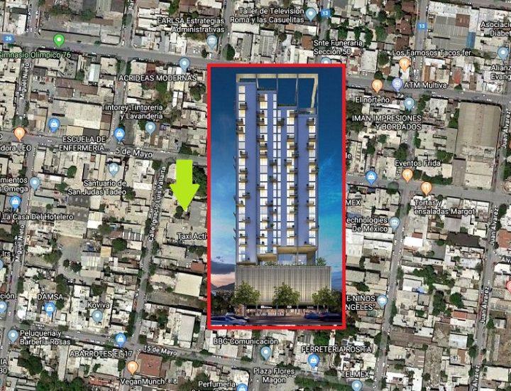 Proyectan una nueva torre de 'depas' en el corazón de MTY