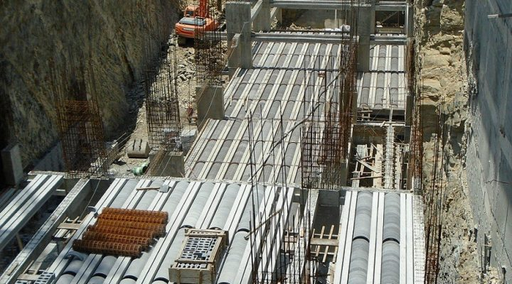 Construyen 1er nivel de sótano de torre corporativa