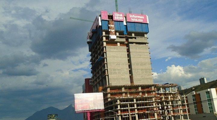 Llega al 50 por ciento estructura de torre mixta en MTY