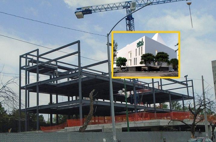 Levantan estructura de edificio institucional en MTY