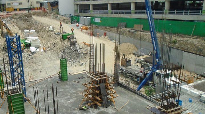 Arranca construcción de losas subterráneas de torre de uso mixto