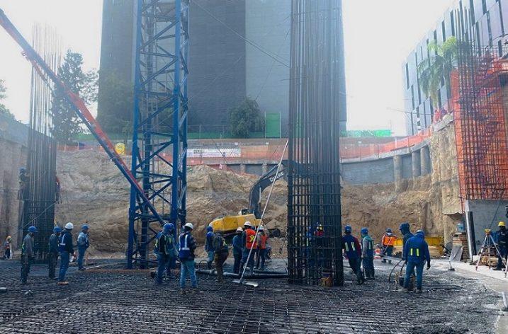 A buen ritmo avanza torre de uso mixto en Santa María