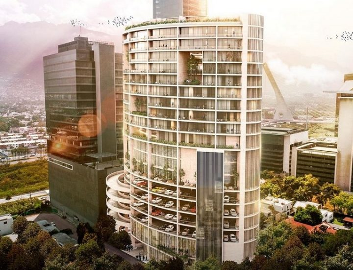 Tocan el nivel de suelo losas de innovadora torre en Santa María