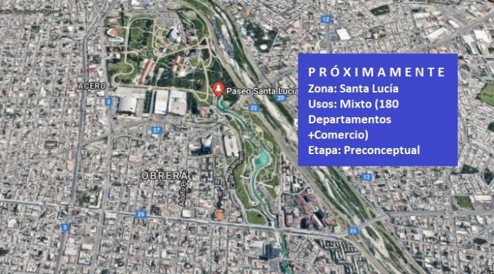 Avanza fase preconceptual de torre en la ribera del Santa Lucía