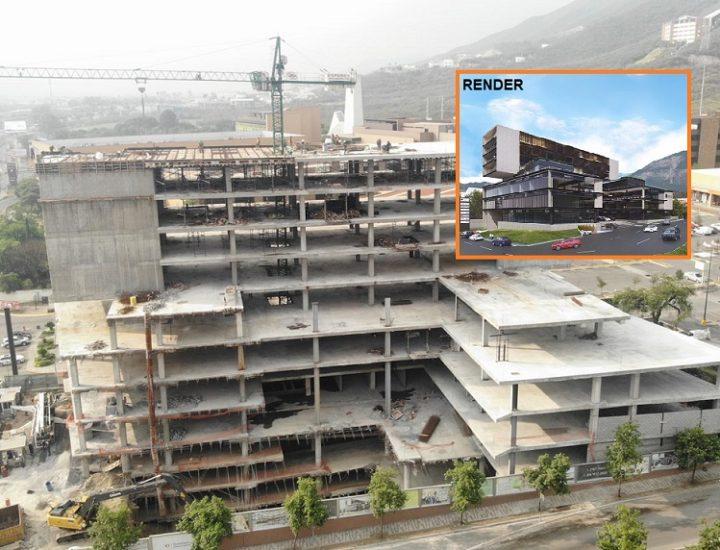 Alcanza 85% avance estructural de proyecto de uso mixto en la Carr. Nacional