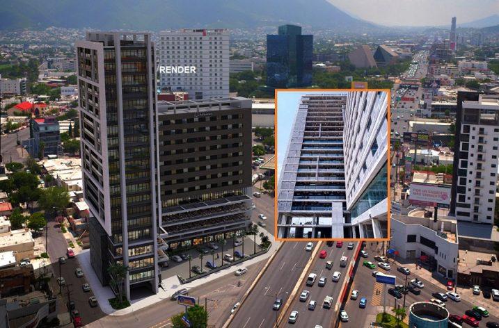 Llega a 85% de avance torre 23 pisos en Garza Sada